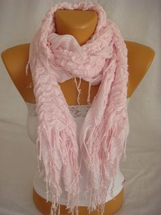 Women Pudra Pink Cotton Shawl Scarf by Arzus on Etsy, $18.90