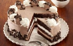 Romanian Desserts, Tasty, Yummy Food, Food Cakes, Cakes And More, Mousse, Cake Recipes, Sweet Treats, Cheesecake