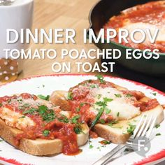 Tomato Poached Eggs on Toast