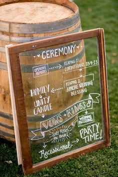 Rustic door wedding sign: http://www.stylemepretty.com/pennsylvania-weddings/2017/03/30/bucking-tradition-and-planning-a-gorgeous-farm-wedding/ Photography: Werth - http://www.werthphotography.com/