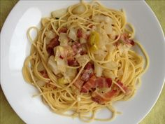 Five Ingredient Pasta #1: Thin Spaghetti with Fennel, Bacon and Parmesan