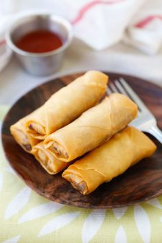 Fried spring rolls - the best and crispiest spring rolls recipe ever, filled with vegetables and deep-fried to golden perfection | rasamalaysia.com