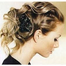 Image result for curly hair up styles
