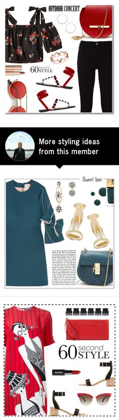 """""""60 Second Style"""" by rasa-j on Polyvore featuring Angela Valentine Handbags, Frame, Attico, Jennifer Zeuner, Charlotte Tilbury, 60secondstyle and outdoorconcerts"""