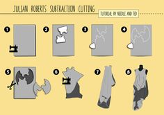 Amazing subtraction dress (as seen in Stylo magazine Issue 4) tutorial by Needle and Ted