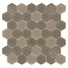 Chocolate Hexagon Glossy & Frosted Glass Tile