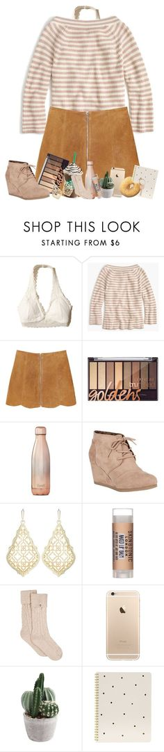 """"" by pinkrasberry on Polyvore featuring Hollister Co., J.Crew, Monki, S'well, City Classified, Kendra Scott, Skin & Tonic, UGG, Sugar Paper and Maison Margiela"
