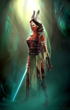 Jedi Master Shaak Ti - Love the concept art for The Force Unleashed <3