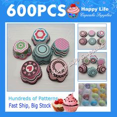Free Shipping ! 600pcs 6 patterns Lovely Petal  Designs for Weddings ,Paper Baking cups Cake decorating tools Cupcake cases!-in Bakeware from Home  Garden on Aliexpress.com $21.99