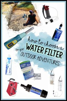 Learn what to consider when choosing a backpacking water filter & get recommendations for the most popular, lightweight & easiest water filters available (Outdoor Water Filter Camping) Camping Bedarf, Hiking Tent, Best Tents For Camping, Backpacking Tent, Thru Hiking, Camping Guide, Camping Checklist, Family Camping, Outdoor Camping