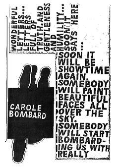 Carole Bombard by Ray Johnson