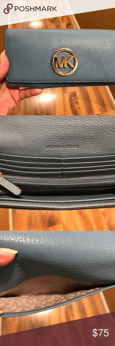 MICHAEL Michael Kors Fulton LeatherCarryall Wallet MICHAEL Michael Kors Fulton Soft LeatherWallet-Blue. Excellent Condition-no signs of wear. Soft leather with lots of room for essentials MICHAEL Michael Kors Bags Wallets