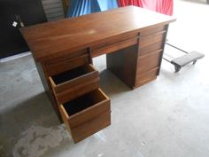 1950's Antique Solid Wood Desk (rescued from the curb)