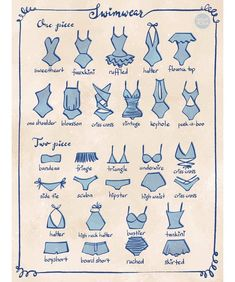 trendy fashion sketches swimwear art Source by blueberrylace sketches