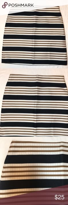 Ann Taylor Color Block Striped  Skirt Casual Size8 Ann Taylor Loft Womens Color Block Striped Pencil Skirt Casual Mini Size 8 Ann Taylor Skirts Mini