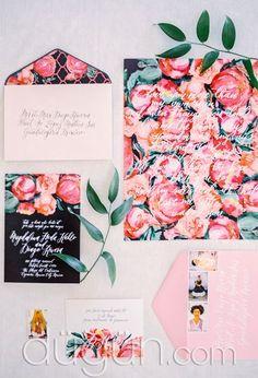 Floral Davetiye Seçenekleri - Davetiye Modelleri
