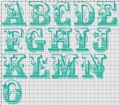 Cross stitch alphabet pattern SALOON cowboy cross stitch font complete letters…