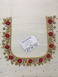 Ideas for embroidery blouse designs Cutwork Blouse Designs, Kids Blouse Designs, Hand Work Blouse Design, Wedding Saree Blouse Designs, Simple Blouse Designs, Embroidery Neck Designs, Blouse Neck Designs, Stylish Blouse Design, Hand Work Embroidery
