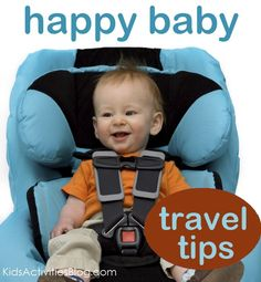 Traveling with a baby?  Here are tips to keep them (and you) happy while in the car. #kids #parenting  A: lower this baby's chest strap, jeez. Poor guy.
