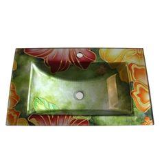 (EU Lager)Modern Glas Waschbecken Eckig