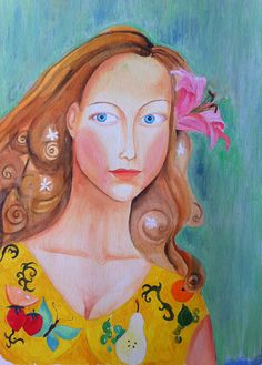 Portrait, girl, acrylic, 2008