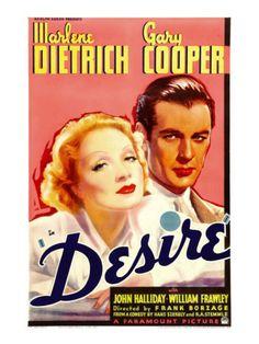 Desire, Marlene Dietrich, Gary Cooper, 1936