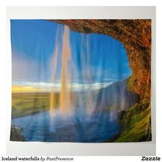 Iceland waterfalls tapestry