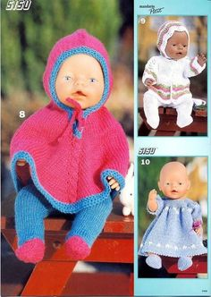 Billede: Boy Baby Doll, Child Doll, Knitting Dolls Clothes, Baby Doll Clothes, Crochet Doll Dress, Knitted Dolls, Dolly Fashion, Diy Buttons, Bitty Baby