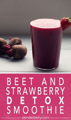 Beet and Strawberry Detox Smoothie – Slenderberry – Slenderberry - Detox Breakfast Detox Breakfast, Breakfast Smoothie Recipes, Kiwi, Hemp Protein Powder, Healthy Options, Greek Yogurt, Beets, Rolled Oats, Food To Make