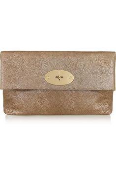 Clemmie metallic leather clutch #handbag #women #covetme #mulberry