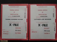 The X-Files X-Files Case Folders replica movie prop