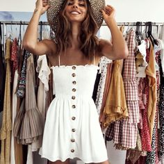 Casual dresses, simple dress casual, white summer outfits, casual dress out Women's Dresses, Cute Dresses, Wedding Dresses, Cute Summer Dresses, Formal Dresses, Awesome Dresses, Dresses Online, Summer Sundresses, Summer Skirts