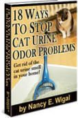 Cat Urine Odor & Smell Remover: 1 part distilled white vinegar to 2 parts warm water. OR hydrogen peroxide, 2 T baking soda, 2 squirts liquid hand soap apply to stains and/or odour areas rinse with warm water