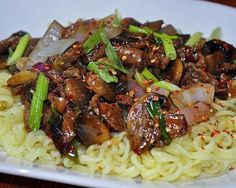 Beefy Noodles: Jazz up camping staples like beef jerky and ramen noodles with this delicious dish. #recipe