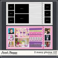 Sweet Shoppe Designs::2 Page Layout Templates::2 Many Photos 157 by Janet Phillips