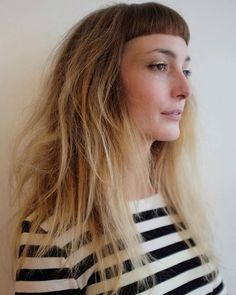 Long Messy Hairstyle With Short Bangs