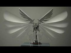 """""""Endeavor's Crest"""" a kinetic sculpture by Bob Potts, joins avian form and function with mechanical, aesthetic and technical beauty. Rolling Ball Sculpture, Carpentry Skills, Used Computers, Metal Art, Ceiling Fan, Geometry, Sculptures, Youtube, Gadgets"""