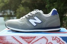 Outlet Online New Balance M373GP Mens Retro Sneakers In Cool Gray, White and Blue UK Price Comparison