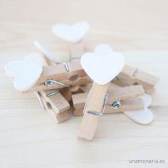 Pincitas madera corazón
