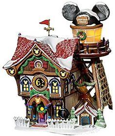department 56 disney: Home & Kitchen Disney Christmas Village, Disney Christmas Decorations, Christmas Trees, Disney Home, Disney Fun, Department 56, Haunted Mansion, North Pole, Fairy Houses