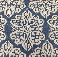 Ikat Upholstery Fabric-Heavy Basket Spicer Color Lapis 7.38 yds L4A