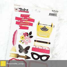 Repost from @marinette_scrap using @RepostRegramApp - In our @hipkitclub January Embellishment kit  @mymindseyeinc everyday Cardstock Stickers #january2016 #hipkits #hipkitclub #scrapbooking #scrapbook #papercrafting #marinettelesne