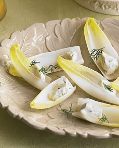 Endive spears with herbed goat cheese