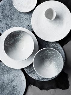 Exquisite plates by father and son ceramicist duo KH Wurtz. The official suppliers to the Copenhagen restaurant Noma