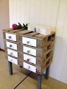 "love this pallet ""dresser/table"""