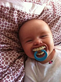 For the future dentist. A toothy pacifier.