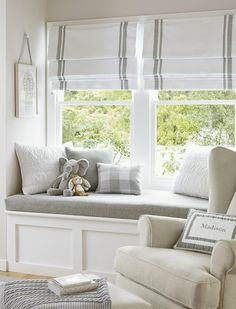 pottery barn roman shades love the idea of 2 shades on the big window instead of trying to find huge for whole length
