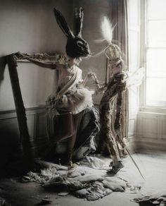 Fashion Photography creative rabbit hat #timwalker ☮k☮