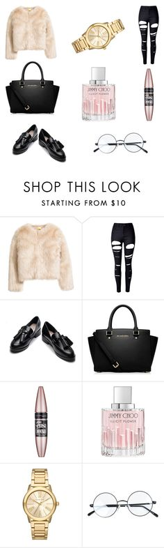 """You can be mean when you look this clean"" by alexa-cook-1 on Polyvore featuring WithChic, MICHAEL Michael Kors, Maybelline, Jimmy Choo and Michael Kors"