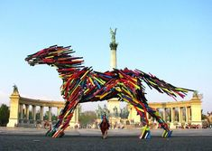 """12 Gigantic Wooden Slat Animal Sculptures 